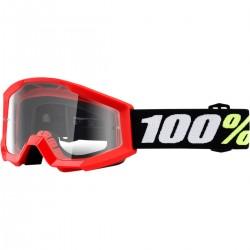 Laste krossiprillid 100% Strata Mini RED/CLEAR