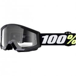 Laste krossiprillid 100% Strata Mini BLACK/CLEAR