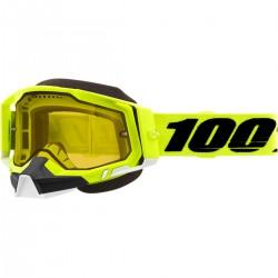 100% Racecraft 2 Snow lumesaani prillid Hi-Vis/Yellow
