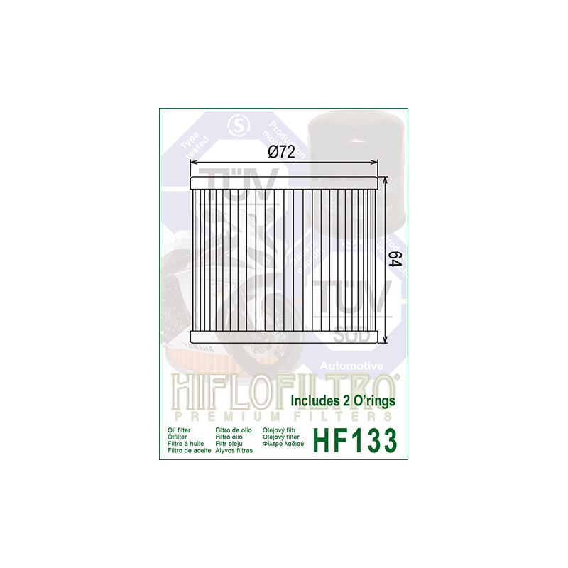 Õlifilter HF133