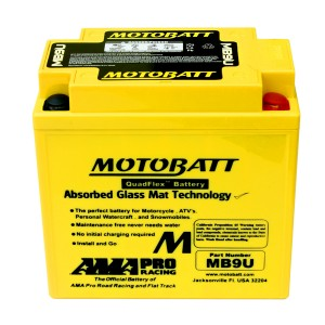 Motobatt battery, MB9U