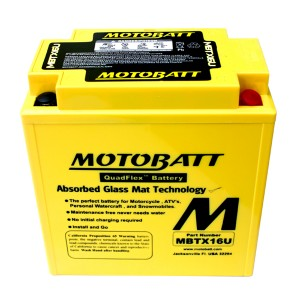 Motobatt battery, MBTX16U