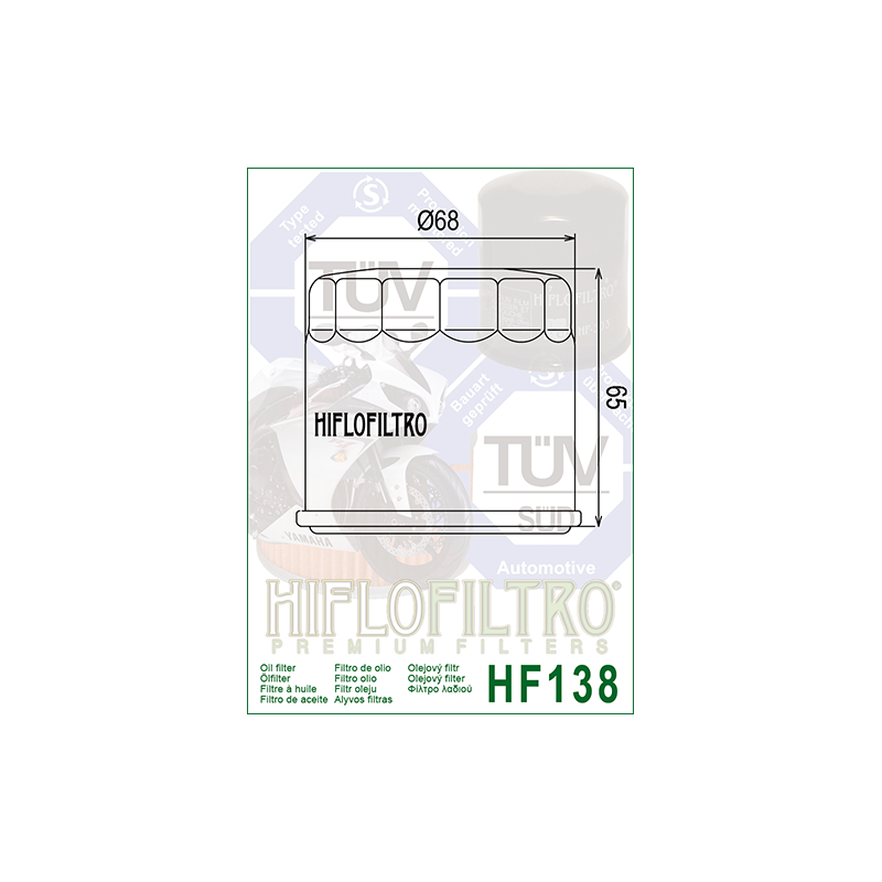 Õlifilter HF138C