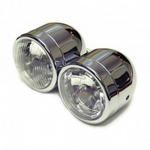 Hyper Dual headlight H4 H7 Blasck E-appr.