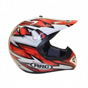 ARC A-721 red black white helmet