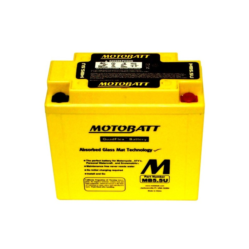 Motobatt battery, MB5.5U