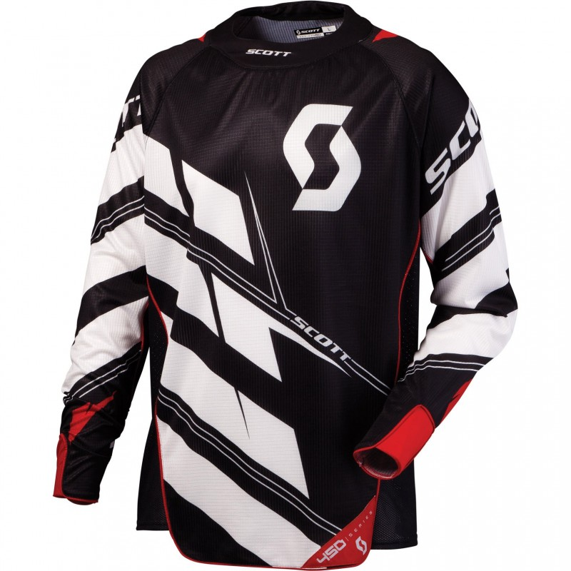 Scott 450 Commit black white jersey