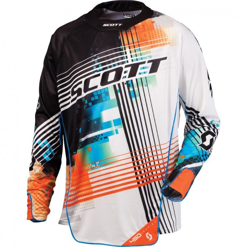 Scott 450 Tangent blue orange jersey