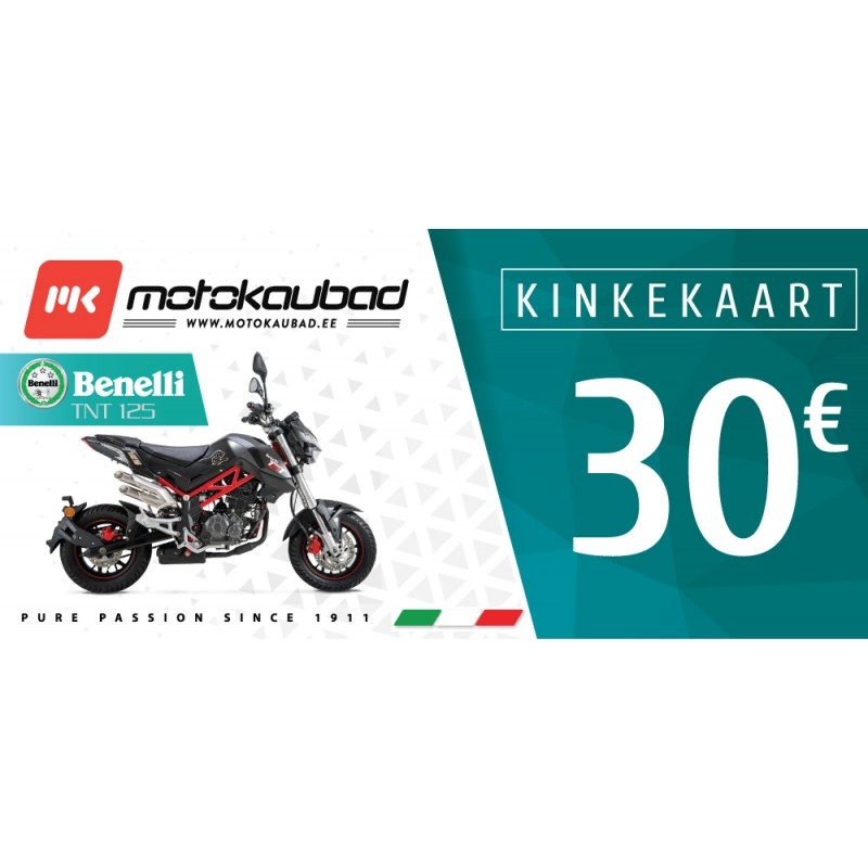 Motokaubad kinkekaart 30€