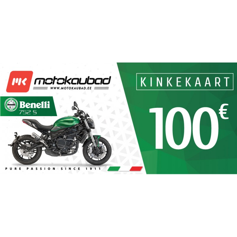 Motokaubad kinkekaart 100€