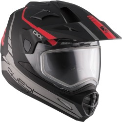 Talvine Dual Sport kiiver elektrilise visiiriga CKX Quest RSV punane