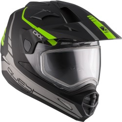 Talvine Dual Sport kiiver elektrilise visiiriga CKX Quest RSV roheline