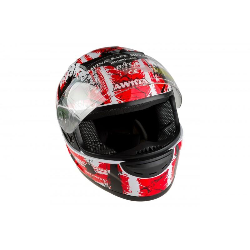 Kiiver Awina Race Valge/Punane