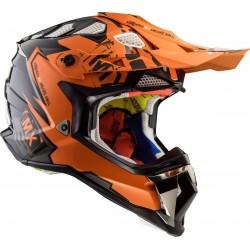 Krossikiiver LS2 MX470 Subverter Emperor Black Orange