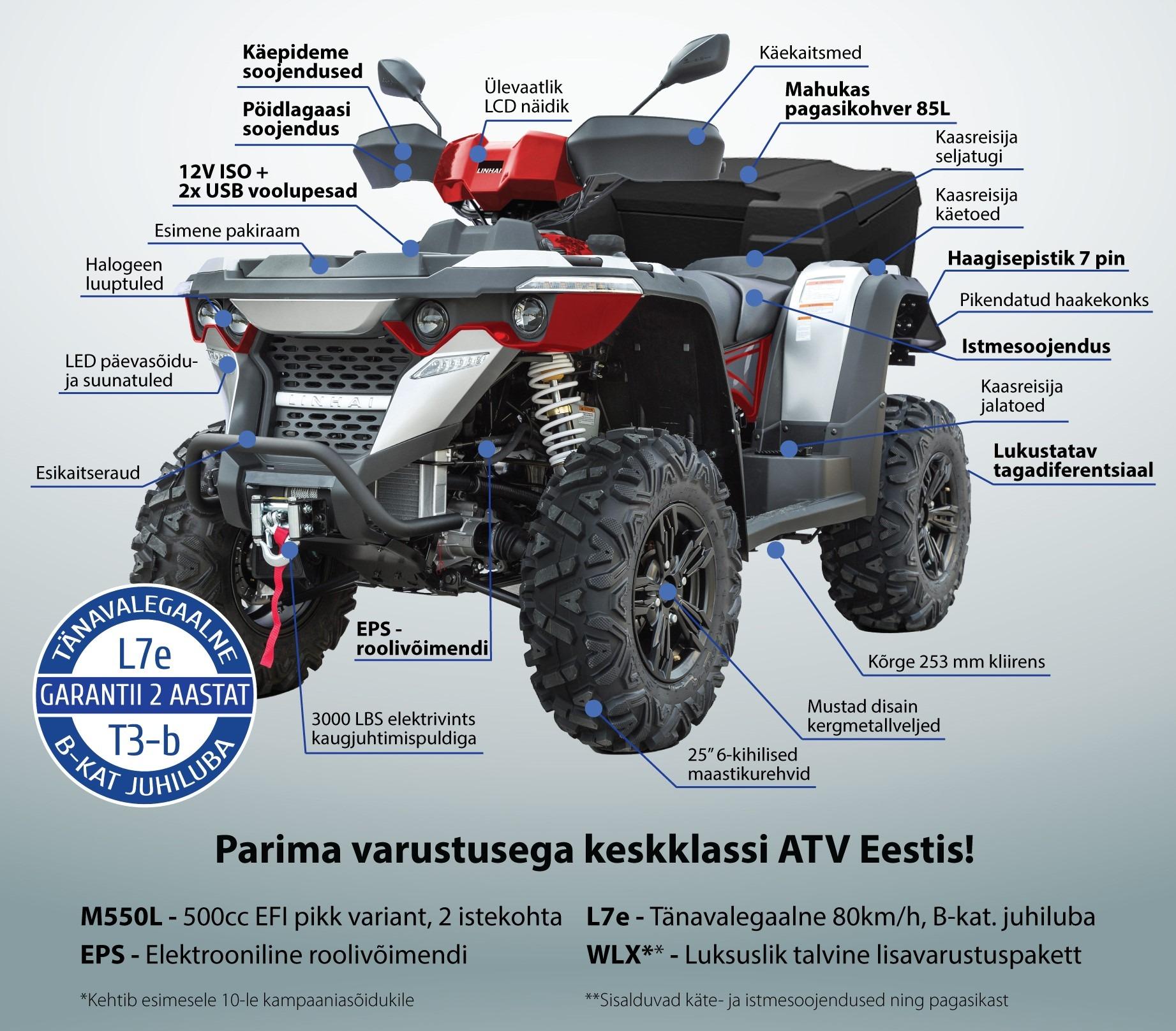 f0316e2a7c0 Kui otsid tõsist töö või vabaaja ATV-d, siis Linhai värske mudel 550L EPS  on just sinule õige valik, sest selle hinna eest saad sa rohkem, kui oled  ealeski ...